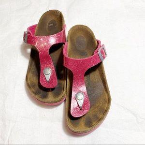 Birkenstock Girls Pink Glitter Sandals Size 33